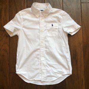 Boys short sleeve button down shirt